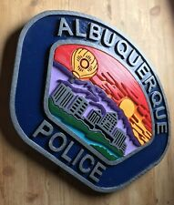 Albuquerque Police 3D routed carved wood patch plaque sign Custom