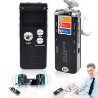 Rechargeable 8GB Digital Sound Voice Recorder Dictaphone MP3 Player record MT