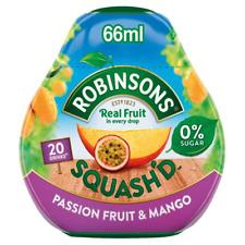 Robinsons Squash serait FRUITS Sans Sucre concentré boisson Mixeur 66 ml fruit de la passion