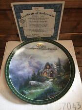 Nib Coa Bradford Exchange Thomas Kinkade Sweetheart Cottage Iii Plate