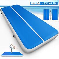 2X6M AirTrack Tumbling Matte Aufblasbar Gymnastikmatte Floor Mat Inflatable 20CM