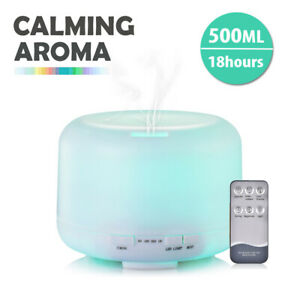 500ml Ultrasonic Essential Oil Aroma Diffuser Air Purifier Humidifier 7 Colors