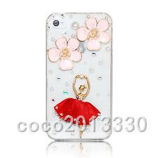 3D Handmade Luxury Bling Crystal Diamond Rhinestone Soft Clear Back Case Cover E