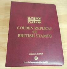 Great Britain Golden Replicas of 12 British Stamps Postal Commemorative Society