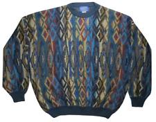 Pendleton Mens Sweater XL Wool Made in USA Geometric Oversize Lobo Cowichan EUC