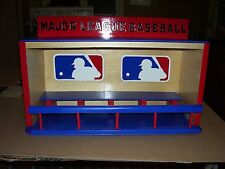 MAJOR LEAGUE BASEBALL  display case for bobble-heads  Dugout style   holds 15
