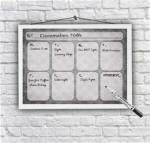Weekly Calendar, Family Organisation, Meal Planner, Kids Planner, Dry Wipe board