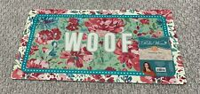 Pioneer Woman Feeding Mat for Pets With Sentiment Woof 20x 11.5""