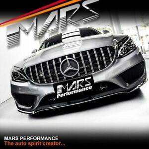 AMG GT Style Bumper Bar Grille Grill for Mercedes-Benz C-Class W205 C205 & C43
