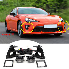 For Toyota 86 2017-2019 LED Front Bumper Fog Light w/Bulbs+Switch+Wire Assembly