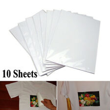 10Pcs A4 Heat Transfer Paper DIY T-Shirt Painting Paper for Light Fabric Cloth