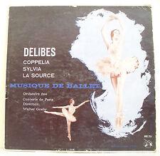 """33T DELIBES Disque LP 12"""" MUSIQUE DE BALLET -COPPELIA -SYLVIA -LA SOURCE - GOEHR"""