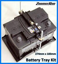 Bandeja De La Batería & Ajustable mantenga pulsada Kit 274mm X 183mm Universal (H)