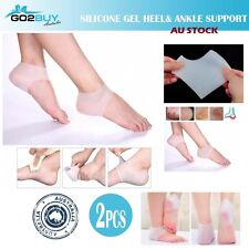 2 X Silicone Moisturizing Gel Heel Ankle Support Foot Skincare Protector Sleeves