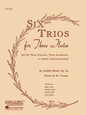 Six Trios for Three Flutes Op. 83 Third Part Ensemble Collection NEW 004474620
