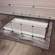 "Guinea Pig Hedgehog Cage 2x4 -14"" Black wire panels + White Corrugated liner CC"
