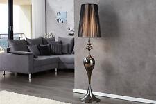 Designer Stehlampe Stehleuchte mit Lampenschirm in Schwarz  Luca 160 cm Hoch NEU