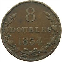 GUERNSEY 8 DOUBLES 1834 #s17 529
