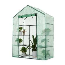 iKayaa Greenhouse 143*73*195cm Mini Walk In Outdoor Green House Storage Shelves