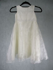 Girls Cream Sleeveless party Dress with Butterfly Design by Ladybird 5 - 6 Yrs