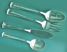 CROMWELL Serving Fork Spoon ButterKnife SugarSpoon 1847 Rogers 1912 Silverplate