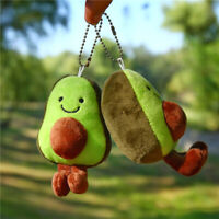 Kawaii Avocado Corduroy Dolls Plush Key Chain Key Ring Bag Pendant Toys