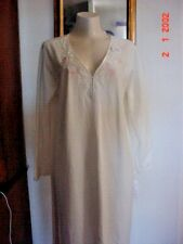 Collette by Miss Elaine Long Nightgown WITH BED JACKET   Size XL Embroidery  NWT