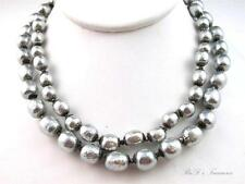 """Vintage Signed MIRIAM HASKELL Faux BAROQUE Pearl Double Strand Necklace 15"""""""