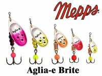 pike for trout salmon, Mepps Aglia Long Heavy Gold Black//Red Body spinner