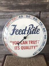 Vintage Feed-Rite Thermometer Feeds Advertising Feed Sign