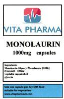 Monolaurin 600mg 365 Kapseln Antibakteriell Immune Gesundheit Vegetarisch