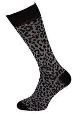 Mens Leopard Skin Print Bottines Socks Size 6-11 Animal