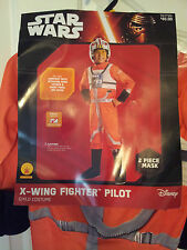 Child-Star-Wars-X-Wing-Fighter-Pilot-Costume-Size-S-(4/6)-Jumpsuit-Mask-Rubie's