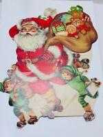 Vintage Eureka Christmas Santa Claus Cut Out 2 Sided 22494