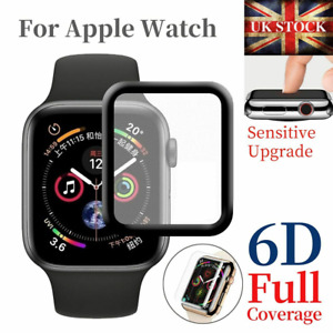 For Apple Watch iWatch 5 4 3 2 38/40/42/44 mm 3D Tempered Glass Screen Protector