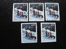 NORVEGE - timbre yvert et tellier n° 1081 x5 obl (A04) stamp norway (R)