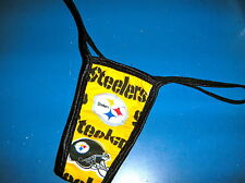 NFL PITTSBURGH STEELERS PANTY/THONG COTTON LINED NEW MED/LARGE 36-38  INCH HIP