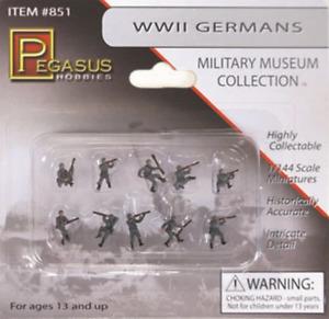 Pegasus 1/144 Ww Ii German Soldiers (10)Painted, #PEG851