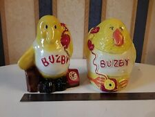"2 x Vintage  BT British Telecom ""BUZBY"" Ceramic Moneyboxes rare"