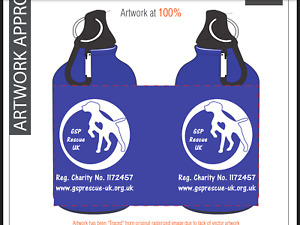 Water Bottle - Purple with Pointers & GSP Rescue