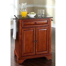 Crosley FurnitureLaFayette Solid Black Granite Top Kitchen Island wNew