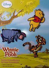 Winnie the Pooh - 3 Aufbügel Flicken Bügelbilder Applikation - Winnie Puuh - NEU