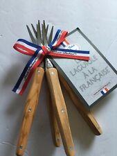 LAGUIOLE-APPETIZER FORKS, COCKTAIL FORKS, SET OF 4, olive wood new