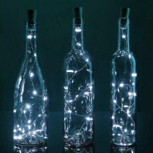 12x WINE BOTTLE FAIRY LIGHTS Vase Jar Glass Decoration Table Centrepiece Wedding