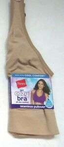 HANES Get Cozy Bra Seamless Pullover MHG19F  Beige,Taupe or Peach  Limited Sizes