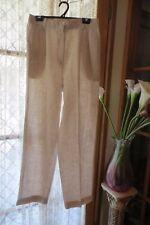 VINTAGE ~ SAG HARBOUR ~ Oatmeal Linen Blend PANTS * Size 14 * NWT *