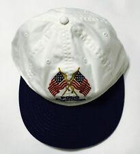 f32b33581fd8b POLO RALPH LAUREN Men s USA Flag Hat Sport Baseball Cap Leather strap  White Navy