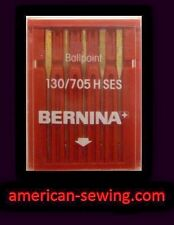 GENUINE Bernina Fine Fabric SEWING MACHINE NEEDLE 130/705H Size 90/14 SES BP~NEW