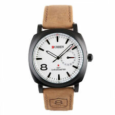 Military Army Quartz Wrist Watch CURREN Men's Leather Strap Sport  Gift @uk
