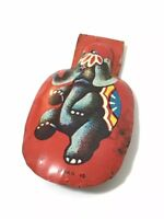 Vintage Metal Noise Maker / Clicker Circus Elephant Litho Tin Toy Japan 2-3/8""